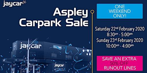 Aspley Carpark Sale | 50% Off Runout Lines