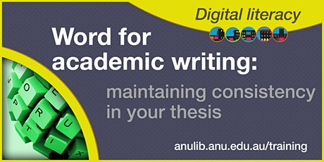 Saturday Word: maintaining consistency in your thesis workshop tickets