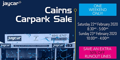 Cairns Carpark Sale | 50% Off Runout Lines
