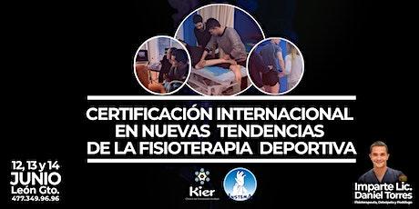 Certificación Internacional de Nuevas Tendendias en Fisioterapia Deportiva boletos