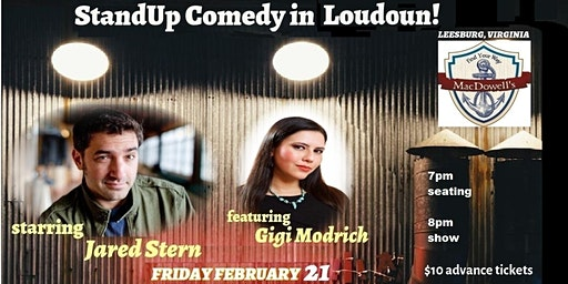 Comedy in Leesburg!  starring Jared Stern (DC Paper Best Comedian 2013)