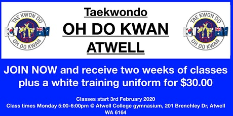 Taekwondo Oh Do Kwan Atwell free trial class tickets