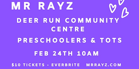 Mr Rayz Pop Up Concert for Preschoolers and Tots tickets