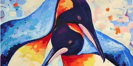 Penguins in Love - Social Art Class tickets