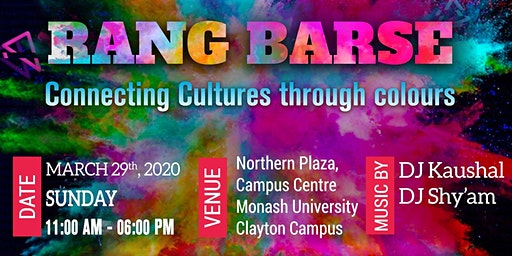 RANG BARSE - Festival of Colours ( Free Entry )