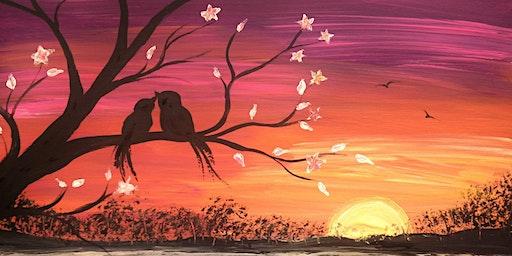 Spring Love Birds Paint Nite Fundraiser