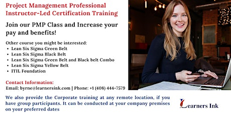 Project Management Professional Certification Training (PMP® Bootcamp)in Corona tickets