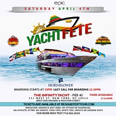 Yacht Fete Reggae Vs. Soca on The Hornblower Infinity *April 4th* tickets