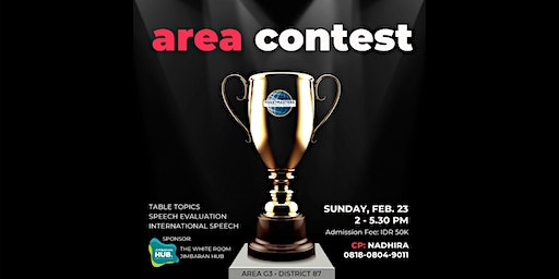 Toastmasters Area G3 Contest (a public speaking event)