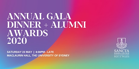 Annual Gala Dinner + Alumni Awards 2020 tickets