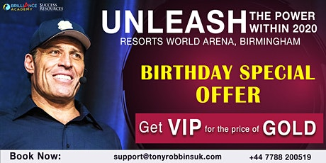 Tony Robbins- Unleash The Power Within (UPW Birmingham 2020) tickets