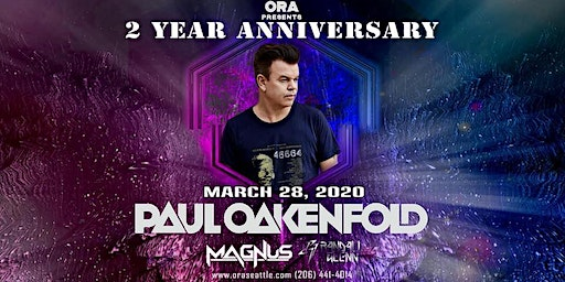 Paul Oakenfold ( Special Meet & Greet ) at Ora