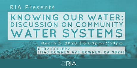 Knowing Our Water: A Panel Discussion on Our Community Water Systems tickets