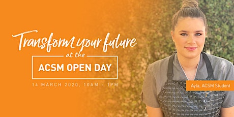 Australian College of Specialist Make-Up OPEN DAY tickets