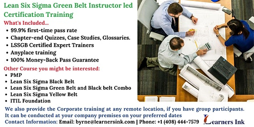 Lean Six Sigma Green Belt Certification Training Course (LSSGB) in Sunnyvale