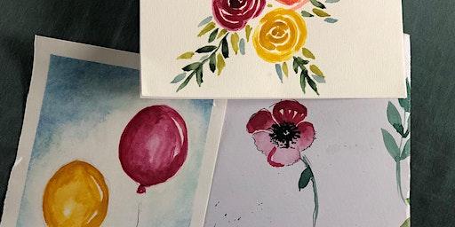 Women In Art - Wine & Watercolour  -  Session 2