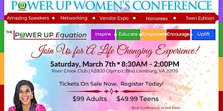 6th Annual Power Up Women's Conference for Women & Teens tickets