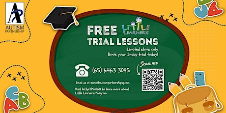 COMPLIMENTARY 3-DAY TRIAL for  our School Readiness Program tickets