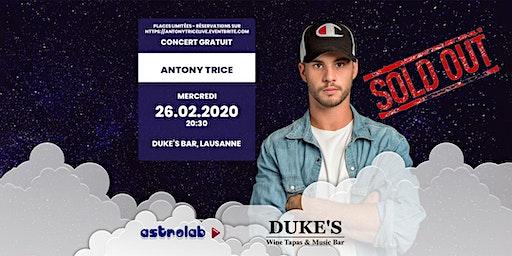 Concert Live Antony Trice  @Duke's Bar Lausanne