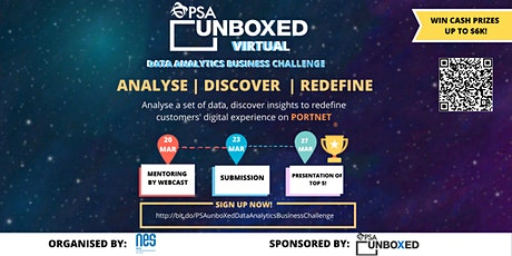 PSA unboXed Data Analytics Business Challenge tickets
