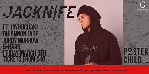 JACKNIFE FRIDAY MARCH 6 AT THE GAMBIER HOTEL
