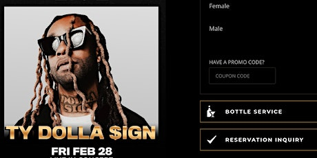 #1 VICTOR Es Guest List Ty Dolla $ign Drai's Nightclub Rooftop Party tickets
