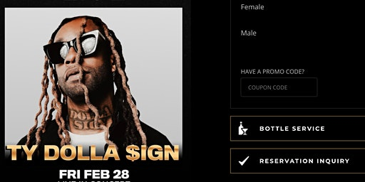 #1 VICTOR Es Guest List Ty Dolla $ign Drai's Nightclub Rooftop Party