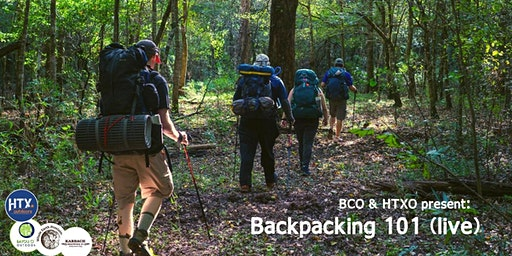 HTXO & BCO present: Backpacking 101 (live)