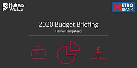 2020 Budget Briefing with Haines Watts & Metro Bank (Hemel Hempstead) tickets