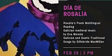 Multilingual readings of Rosalía De Castro tickets