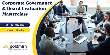 Corporate Governance & Board Evaluation  Masterclass tickets