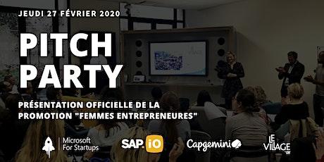 Pitch Party : présentation officielle de la promotion Femmes Entrepreneures billets