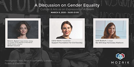 A Discussion on Gender Equality: Culture & Arts as Expressions of Activism tickets