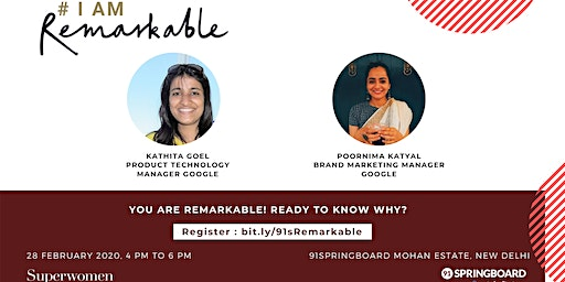 #IamRemarkable Workshop for Women