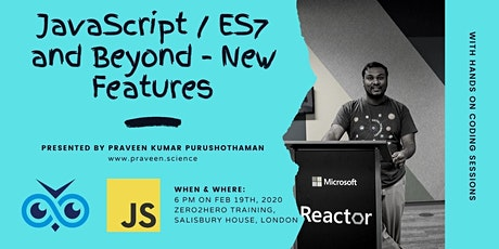 JavaScript / ES7 New Features tickets