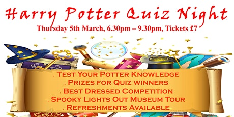 Harry Potter Quiz Night at Torquay Museum tickets