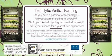 Tech Tyfu - Vertical Farming in North Wales @ Glynllifon tickets