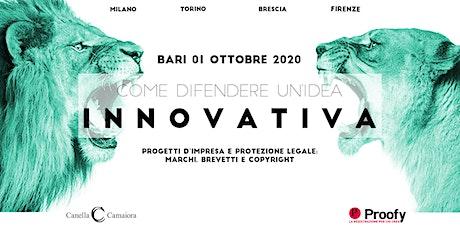 Come difendere un'idea innovativa® Tour 2020 – Bari biglietti