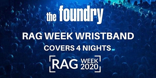 RAG WEEK WRISTBAND - MON/TUES/WED/THUR