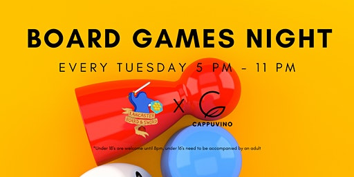 Cappuvino Board Games Night - Lancaster