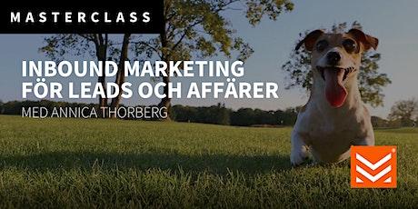 Masterclass: Inbound Marketing för leads och affärer biljetter