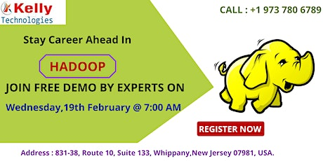 Attend Free Demo On Hadoop Online Training By Kelly Technologies tickets