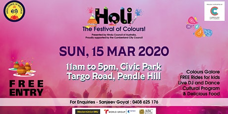 Festival of Colours by Hindu Council Australia with Music tickets