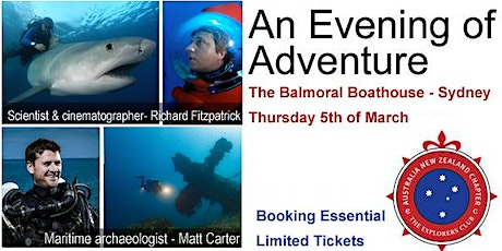 The Explorers Club Evening of Adventure - 5th March in Sydney (Members) tickets