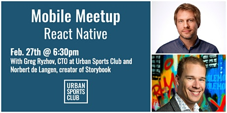 Mobile Meetup (React Native) hosted by Urban Sports Club Tickets