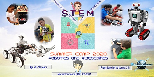 SUMMER CAMP  2020 (ROBOTICS, VIDEO GAME DESIGN & STEM)