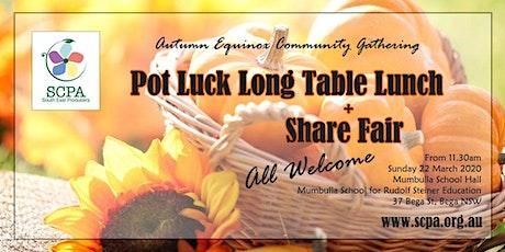 Pot Luck Long Table Lunch & Share Fair tickets