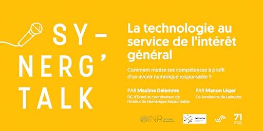Synerg'talk - La technologie au service de l'intérêt général