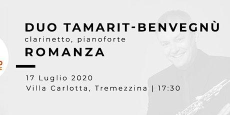 ROMANZA - Miquel Tamarit (clarinetto), Renata Benvegnù (pianoforte) tickets