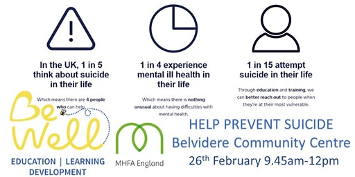 Help Prevent Suicide - 2 hour workshop